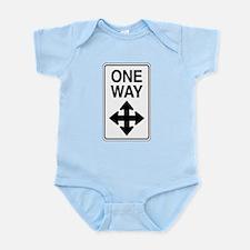 Road Sign Zen Infant Bodysuit