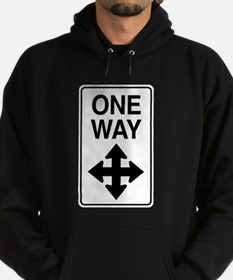 Road Sign Zen Hoodie (dark)