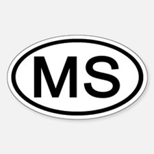 Mississippi - MS - US Oval Oval Decal