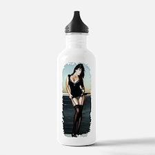 Brunette pinup Water Bottle