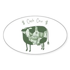 Cash Cow Oval Decal