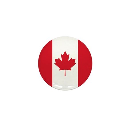 Canadian Flag Mini Button (100 pack)
