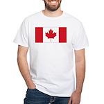 Canadian Flag White T-Shirt