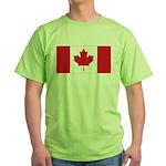 Canadian Flag Green T-Shirt
