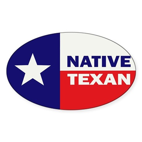 Native Texan Sticker (Oval 50 pk)