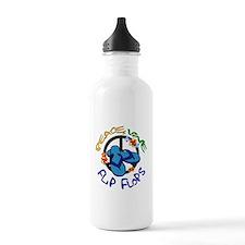 peace, love, flip-flops Water Bottle