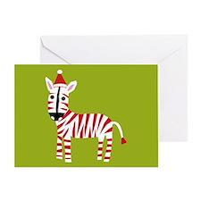 xmas zebra Greeting Card