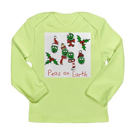 Peas on Earth Long Sleeve Infant T-Shirt