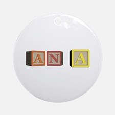 Ana Alphabet Block Ornament (Round)
