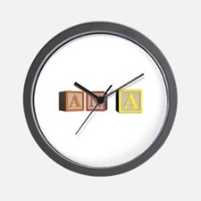 Ana Alphabet Block Wall Clock