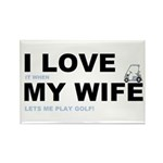Golfing I love my wife Rectangle Magnet (100 pack)