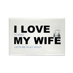 Golfing I love my wife Rectangle Magnet (10 pack)