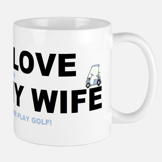 Golfing I love my wife Mug