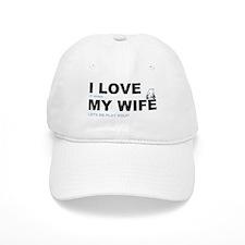 Golfing I love my wife Baseball Cap