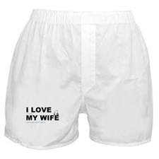 Golfing I love my wife Boxer Shorts