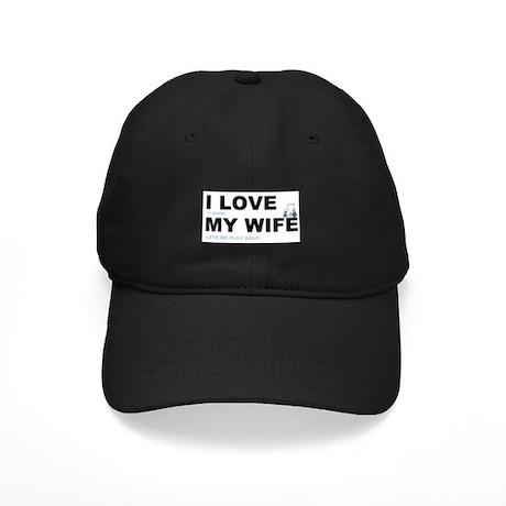 Golfing I love my wife Black Cap