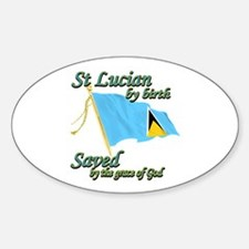 St lucian by birth Decal