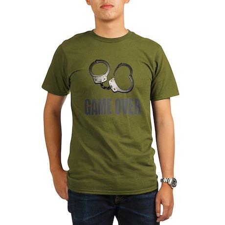 HANDCUFFS/POLICE Organic Men's T-Shirt (dark)