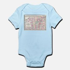 Vintage Map of The Adirondack Mountains Body Suit