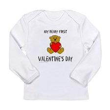 MY FIRST VALENTINE'S DAY Long Sleeve Infant T-Shir