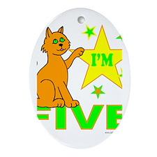 I'M FIVE Ornament (Oval)