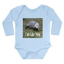 Opossum Long Sleeve Infant Bodysuit
