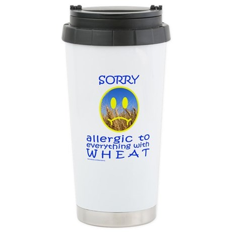 ALLERGIC TO WHEAT Stainless Steel Travel Mug