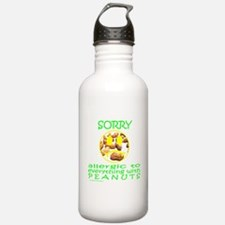 ALLERGIC TO PEANUTS Water Bottle