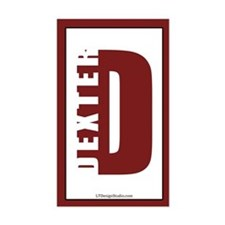 Dexter Vertical Bumper Stickers