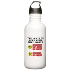 KEEP YOUR WIFE HAPPY Water Bottle