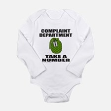 COMPLAINT DEPARTMENT Long Sleeve Infant Bodysuit