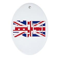 U.K. Flag Kanji Oval Ornament