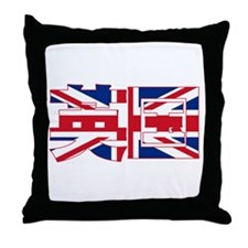 U.K. Flag Kanji Throw Pillow
