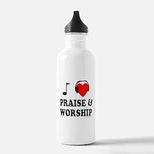 I HEART PRAISE & WORSHIP Water Bottle