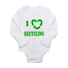 I LOVE RECYCLING Long Sleeve Infant Bodysuit