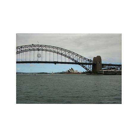 Opera House & Harbor Bridge Rectangle Magnet