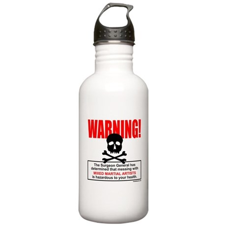 WARNING MMA Stainless Water Bottle 1.0L