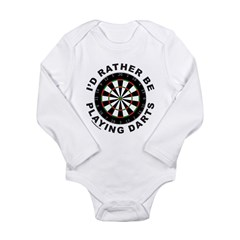 DARTBOARD/DARTS Long Sleeve Infant Bodysuit