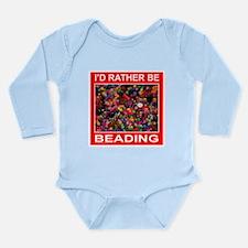 BEADING Long Sleeve Infant Bodysuit