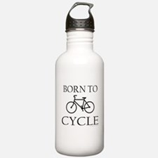 BORN TO CYCLE Sports Water Bottle