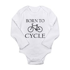BORN TO CYCLE Long Sleeve Infant Bodysuit