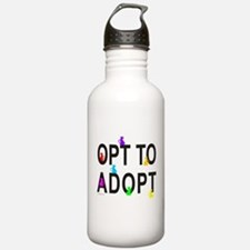 OPT TO ADOPT A CAT Water Bottle