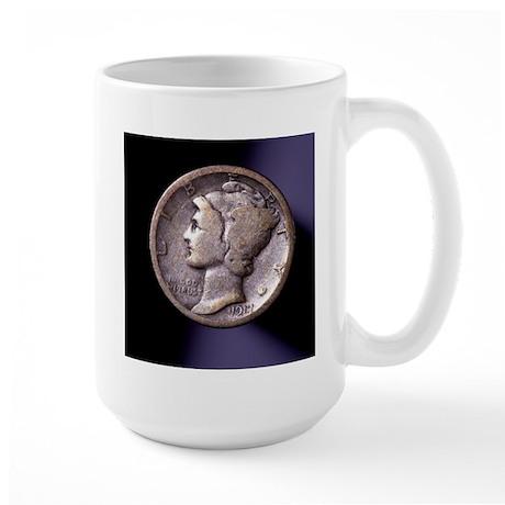 1917 Dime Large Mug
