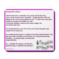 Songwriter's Mousepad