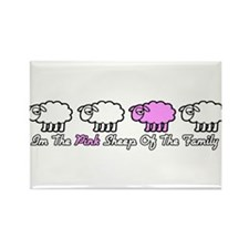 Im The Pink Sheep Of The Family Rectangle Magnet