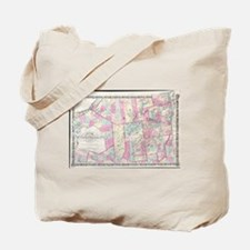 Vintage Map of The Adirondack Mountains ( Tote Bag
