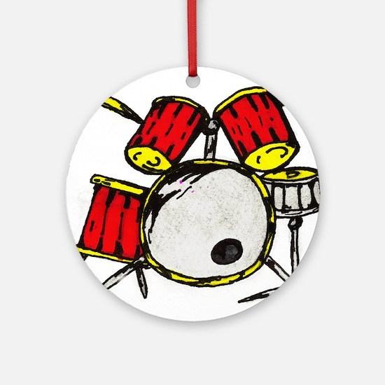 Drum Set Ornament (Round)