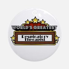 World's Greatest Resp. Therap Ornament (Round)