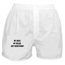 MY BOAT. MY RULES. Boxer Shorts