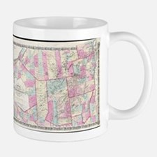Vintage Map of The Adirondack Mountains (1867 Mugs